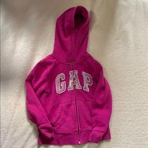 Girls Gap zip up sweater